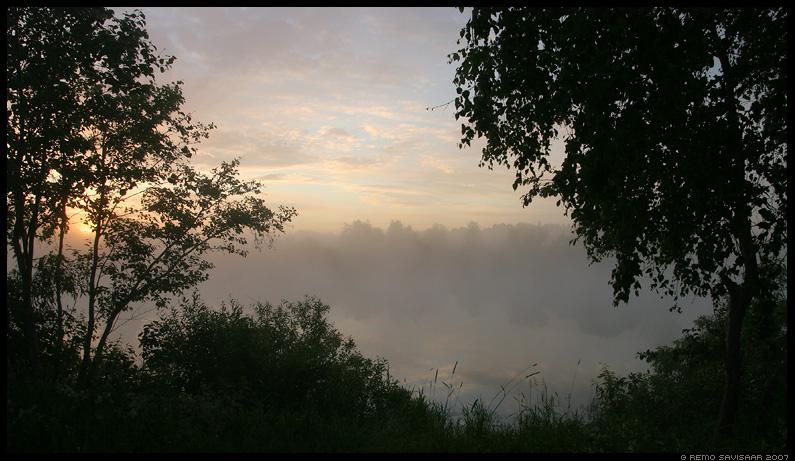 jõgi, udu, päikesetõus, hommik, river, fog, sunrise, morning