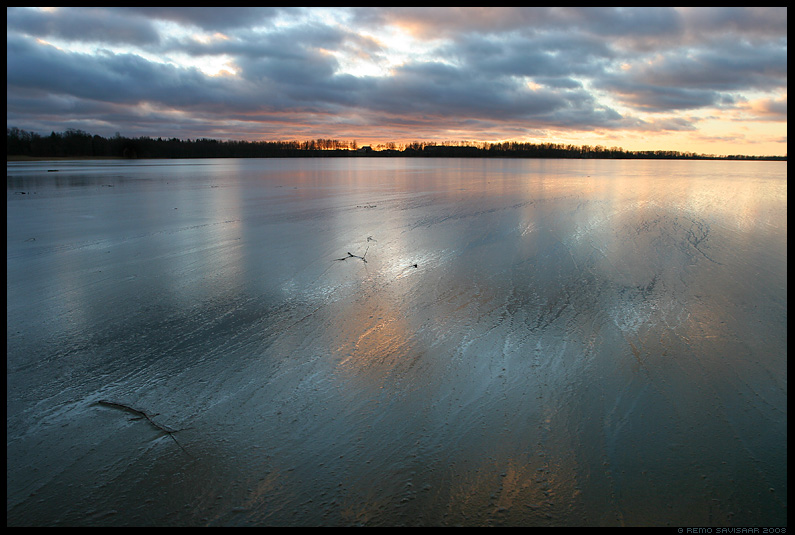 järv, vesi, jää, torm, muster