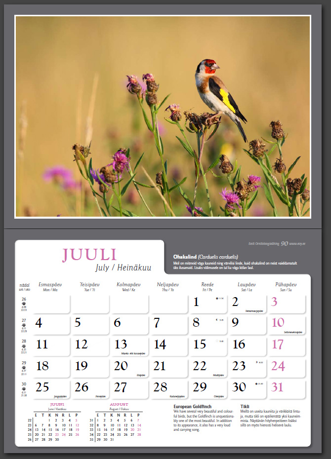 Remo Savisaar kalender 2011 juuli
